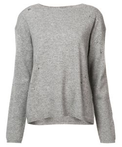 Nili Lotan | Destroyed Effect Jumper Womens Size Large Wool/Cashmere