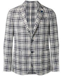 Lardini | Checked Blazer Mens Size 50 Cotton/Wool/Acrylic/Polyamide