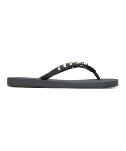 Giuseppe Zanotti Design | Studded Flip-Flops Mens Size 40 Rubber/Metal Other