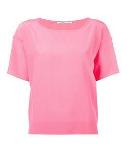 Agnona | Plain T-Shirt Womens Size 44 Silk/Cotton/Cashmere