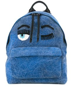 Chiara Ferragni | Backpack With Bead Embellished Detail Cotton/Leather/Glass