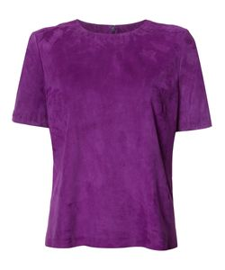 Yves Salomon | Suede Blouse Womens Size 42 Suede/Lamb Skin