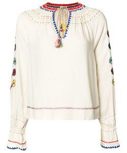 Ulla Johnson | Embroide Blouse Womens Size 0 Silk