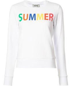 Yazbukey | Summer Print Sweatshirt Womens Size Medium Cotton/Polyester
