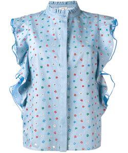 Manoush | Denim Volant Top Womens Size 40 Cotton/Polyester