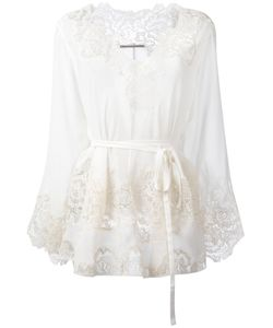 Ermanno Scervino | Sheer Lace Blouse Womens Size 42 Silk