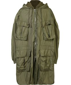 Juun.J | Hooded Military Jacket Mens Size 48 Cotton/Nylon/Polyester