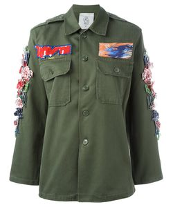 Night Market | 3d Hibiscus Military Jacket Womens Cotton