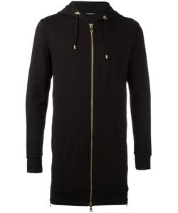 Balmain | Long Zip Hoodie Mens Size Large Cotton