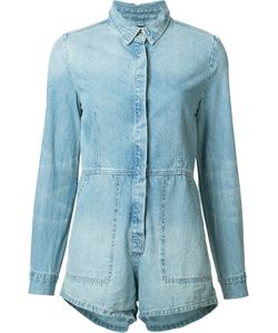 Ksubi | Longsleeved Denim Playsuit Womens Size Medium Cotton