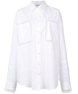 Natasha Zinko   Sheer Lace Insert Shirt Womens Size 38 Cotton