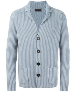 Iris von Arnim | Ribbed Cardigan Mens Size Large Cashmere