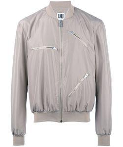 Les Hommes Urban   Multi-Zippers Bomber Jacket Mens Size 50 Polyester/Spandex/Elastane/Cotton