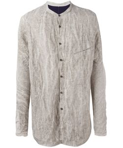 Ziggy Chen | Crumpled Detail Shirt Mens Size 52 Cotton/Metal