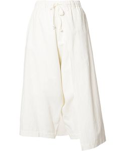 Y's   Left Wrap Trousers Womens Size 2 Cotton/Linen/Flax