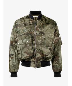Givenchy | Camo-Print Bomber Jacket Mens Size 48 Polyamide/Viscose/Polyester