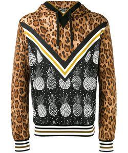 Dolce & Gabbana   Multi-Print Hoodie Mens Size 46 Cotton