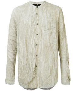 Ziggy Chen | Ruched Effect Shirt Mens Size 48 Cotton/Metal