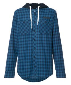 Prps | Checked Buttoned Hoodie Mens Size Medium Cotton