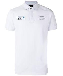 Hackett | Chest Print Polo Shirt Mens Size Small Cotton