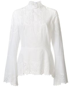 Yigal Azrouel | Embroide Eyelet Blouse Womens Size 10 Cotton