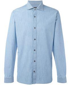 Z Zegna | Slim-Fit Denim Shirt Mens Size Small Cotton