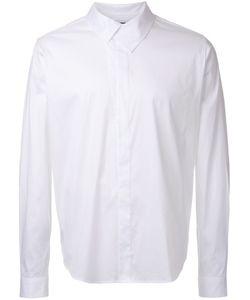 Wooyoungmi | Overlap Collar Shirt Mens Size 46 Cotton/Nylon/Spandex/Elastane