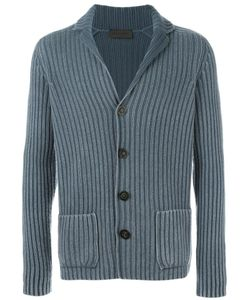 Iris von Arnim | Ribbed Cardigan Mens Size Small Cashmere