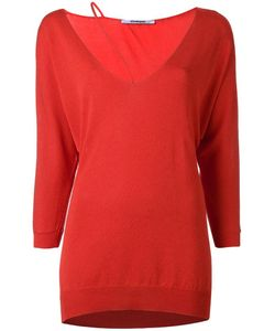 Chalayan | String Neck Knitted Top Womens Size Large Cotton/Viscose