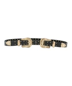 B-Low the Belt | Double Buckle Belt Womens Size Large Leather