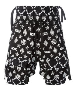 KTZ | Monogram Overlap Shorts Mens Size Medium Cotton