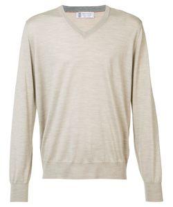 Brunello Cucinelli   V-Neck Jumper Mens Size 50 Cashmere/Virgin Wool