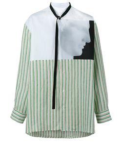 Raf Simons | Ermes Printed Shirt Mens Size 46 Linen/Flax