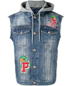 Philipp Plein | Dim Capuccio Patch Gilet Mens Size Large Cotton