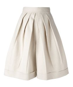Delpozo | Wide Leg Shorts Size 36 Linen/Flax/Cotton/Viscose