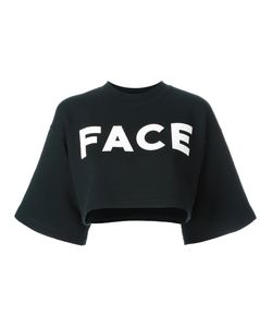 Facetasm | Short-Sleeve Logo Sweatshirt Womens Size 2 Cotton