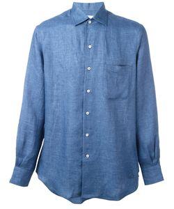 Loro Piana | Plain Shirt Mens Size Medium Linen/Flax