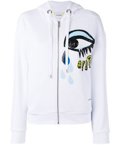 Iceberg | Sequins Eye Zip Up Hoodie Womens Size 44 Cotton/Polyester