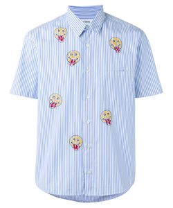 Jimi Roos | Smiley Face Print Shirt Mens Size Xl Cotton