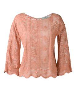 Forte Forte | Scalloped Hem Knitted Blouse Womens Size I Cotton/Polyamide