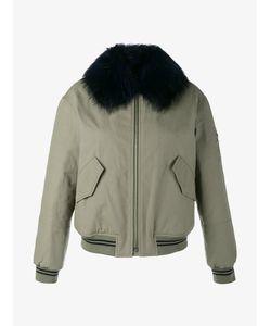 Army Yves Salomon | Raccoon Fur-Trimmed Bomber Jacket Womens Size 34