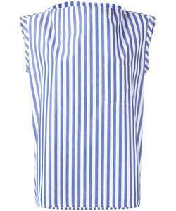 Barena   Striped Sleeveless Blouse Womens Size Xs Cotton