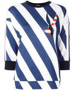 Iceberg | Diagonal Stripes Sweatshirt Womens Size 40 Viscose/Spandex/Elastane/Polyester