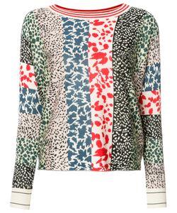 Sonia Rykiel | Animal Pattern Sweatshirt Womens Size Medium Silk/Cashmere/Wool