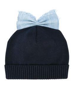 Federica Moretti | Denim Bow Detail Beanie Womens Cotton