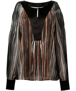 Barbara Bui | Slit Shoulders Shift Blouse Womens Size 38 Silk
