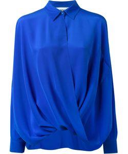 Moschino   Draped Shirt Womens Size 40 Silk