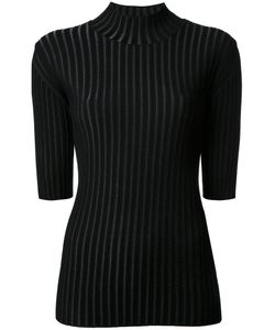 Le Ciel Bleu | Pleated Cropped Sleeves Jumper Womens Size 36