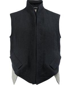 Cedric Jacquemyn   High Neck Waistcoat Mens Size 48 Linen/Flax