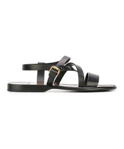 Silvano Sassetti   Multi-Strap Sandals Mens Size 8 Calf Leather/Leather